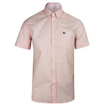 Camicia rosa pallida da uomo Lacoste