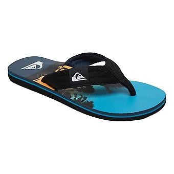 Quiksilver Molokai Layback Flip Flops - Black / Blue / Black