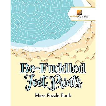 Be-Fuddled Foot Prints - Maze Puzzle Book by Activity Crusades - 97802