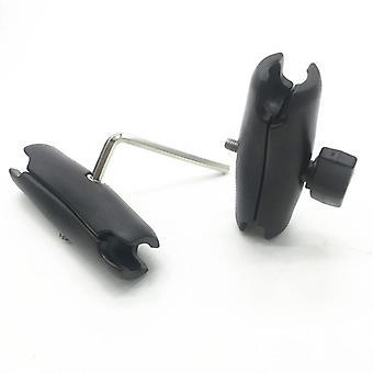 9.5cm 15 cm alüminyum veya plastik kabuk çift soket, 1 inç bilyalı montaj için kol