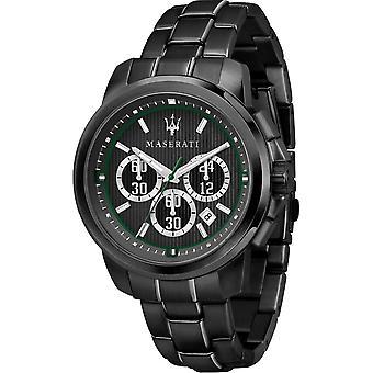 Maserati R8873637004 Montre-bracelet noire Bracelet Chronographe Royale