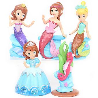 5pcs Prinses Sofia Zeemeermin figuur speelgoed cake decoratie meisje cadeau micro landschap scène decoratie
