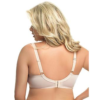Gorsenia Nicea K573 Women's Beige Embroidered Non-Padded Underwired Full Cup Bra