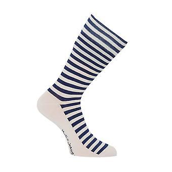 Nudie Jeans Co Olsson Organic Cotton Socks - Breton Stripes