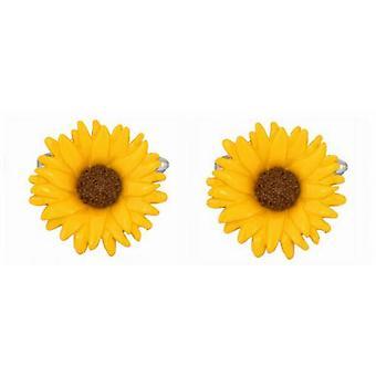 Zennor auringonkukan kalvosinnapeja - Keltainen