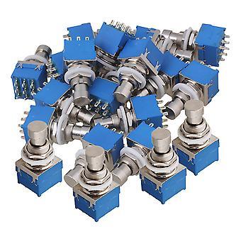 20 x Effekte Pedal 3PDT 9-Pin Fußschalter W/Lockwasher Nylon Schalter