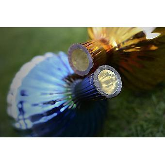 Rosenkugel aus Glas fr den Garten – perfekte handgemachte Garten-Dekoration fr Ihr Blumenbeetin