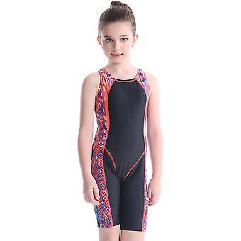 Swimsuit for cross-border european new swimwear children's long leg racing one-piece student training