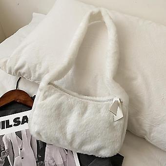 Simple Design Women Soft Hobos Bags, Winter Purse Handbag