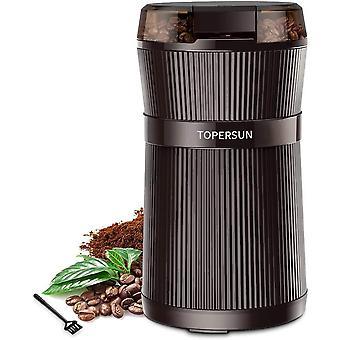 Kaffeemhle 200W Elektrische Kaffeemhle mit Edelstahl Schlagmesser Geeignet fr Kaffeebohnen Nssen