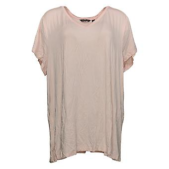 H by Halston Women's Top V-Neck w/ Forward Notch Detail Pink A306231