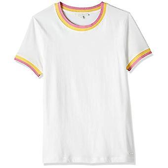 Tom Tailor Kontrast Jerseyshirt Débardeur pour Femme, 10332/Off White, XS