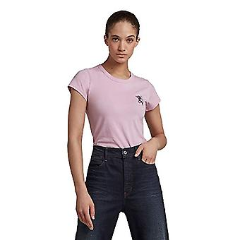 G-STAR RAW tulpantryck smal T-shirt, lavendelrosa 336-c340, S Kvinna