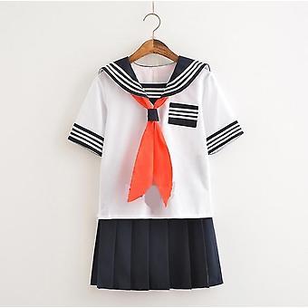 Sommerschule Uniformen Studenten Tuch Tops, Röcke & Krawatte Anime Sailor Anzug Set