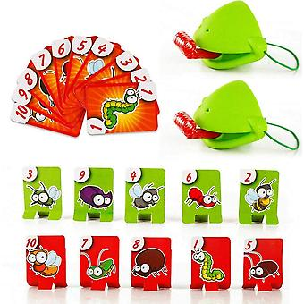 Tongue Out Lizard Frog Mask Toy, Challenging Parent Child Battle Board Game