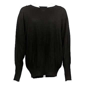 Zuda Women's Sweater Unwind Seamed Relaxed Fit Black A374996