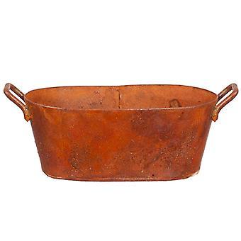 Dolls House Aged Rusty Oval Wash Tub Bath Bowl Miniature 1:12 Accessory
