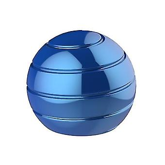 Blue fully disassembled rotating desktop ball transfer top fingertip decompression toy x1960