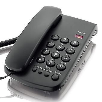 DAERXIN TCF-2000 デスクトップコード付き固定電話固定電話電話ミュート/一時停止/フラッシュ/リダイヤルホーム Offi WS42108 用