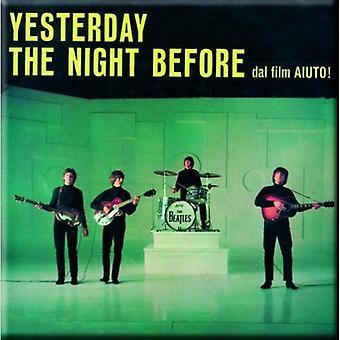 The Beatles - i går / natten før kjøleskap magnet