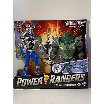 Power Rangers Blue Vs Shockhorn Dino Fury Battle Angribere Hasbro F1603