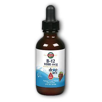 Kal B12 DropIns végétarien gouttes raisin, 2 oz