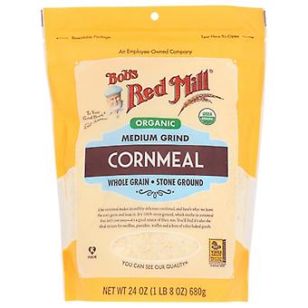 Bobs Red Mill Cornmeal Med Grind Org, Fall av 4 X 24 Oz