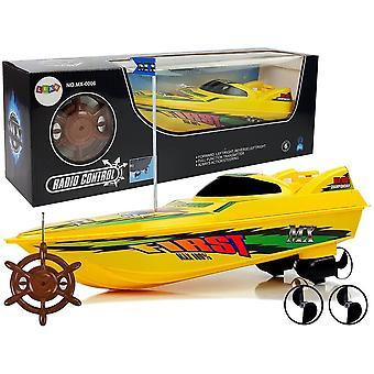 RC speelgoedboot geel - badkuip speelgoedboot - met remote