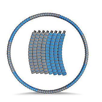 Painotettu Hula Vanne aikuisille, Laihtuminen Liikunta hula rengas ruostumattomasta (sininen harmaa)