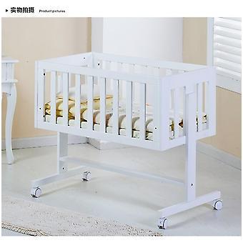 Детская кроватка Деревянная кровать. Белая краска