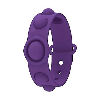 Kul finger bubbla musik silikon squeeze sport armband (lila)