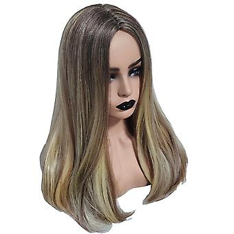 Long Brown Wig Curly Wavy Wig Heat Resistant Full Hair For Women Cosplay