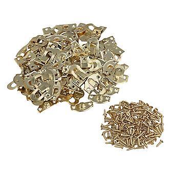 Chain connectors links 50pcs yellow metal padlock hasp jewelry box buckle shackle lock 21pcs 20mm
