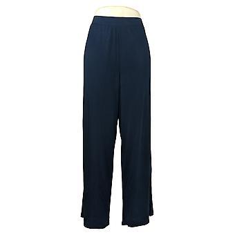 WynneLayers by MarlaWynne Damen Hose Modal Wide-Leg Hose Blau 618313