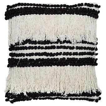 """Spura Home Gisel Ivory Shaggy Contemporary Style 18""""x18"""" Pillow Cushion"""