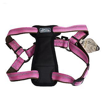 """K9 Explorer Reflective Adjustable Padded Dog Harness - Rosebud - Fits 20""""-30"""" Girth"""