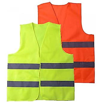 Safety Vest High Visibility Reflective, Suitable For Drivers, Workers, Gardeners, Cleaners, Green (pack Of 5)