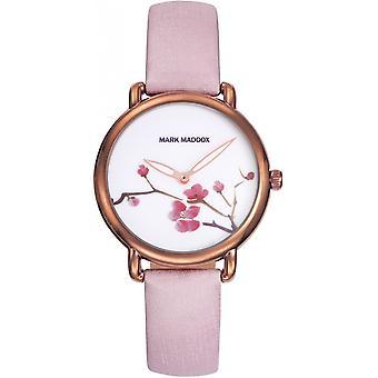 Orologio da donna Mark Maddox Pink Textile MC2001-02