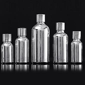 Cosmetic toiletry bags modern style metallic finished glass dropper bottles 30ml