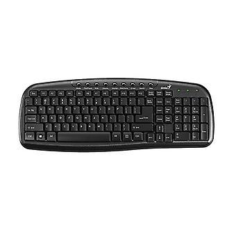 Genius Kb M225C Multimedia Spill Resistant Usb Keyboard