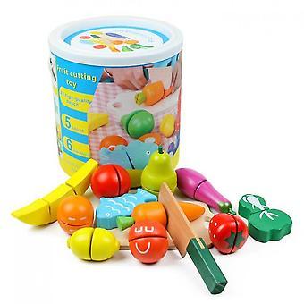 Qian Fruits et légumes Nourriture de cuisine pour faire semblant de couper des jouets alimentaires, jouet éducatif