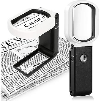 Household Magnifying Glass With Led Light 10x 25, Suitable For Reading, Manual