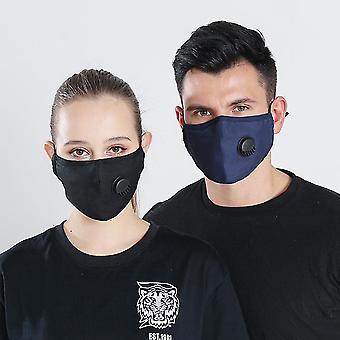 Newfy Anti-neblina PM2.5 Ativado Carbono Ajustar Máscara protetora de algodão com válvula