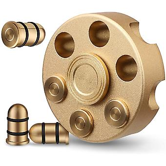 Fidget Spinner Cool Alloy Metal, Small Hand Spinner Low Noise Toy