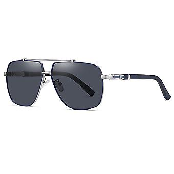 משקפי שמש שני צבעים מקוטבים של Silktaa Men's Mens + מארז משקפיים של בד אופנה