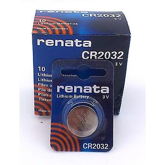 Renata Lithium Battery - Pack of 10 (CR2032)
