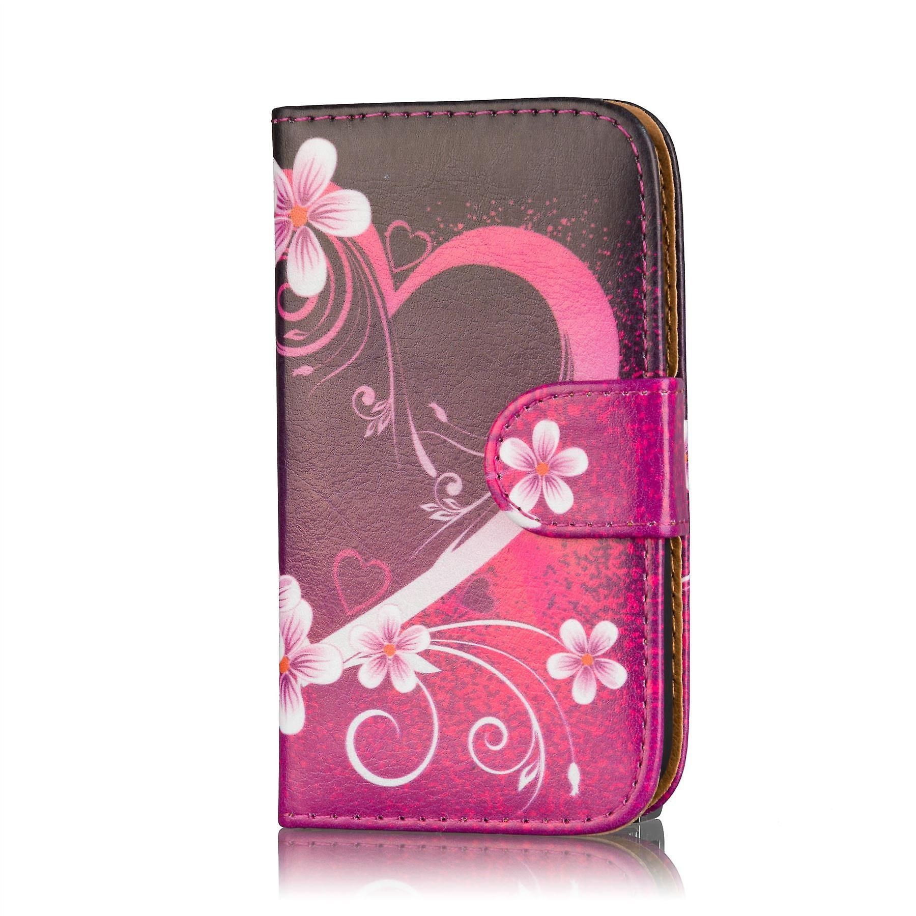 Design book case cover for Samsung Galaxy Young 2 G130 - Love Heart