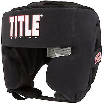 Title Boxing Gel Ultra-Lite Washable Custom Form Fit Headgear - Black