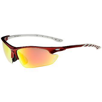 Helens - een Half-Frame kleur Mirror Lens sport zonnebrillen wikkel 75mm