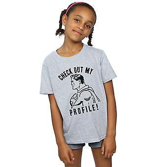 DC Comics niñas Superman salida en mi perfil de t-shirt